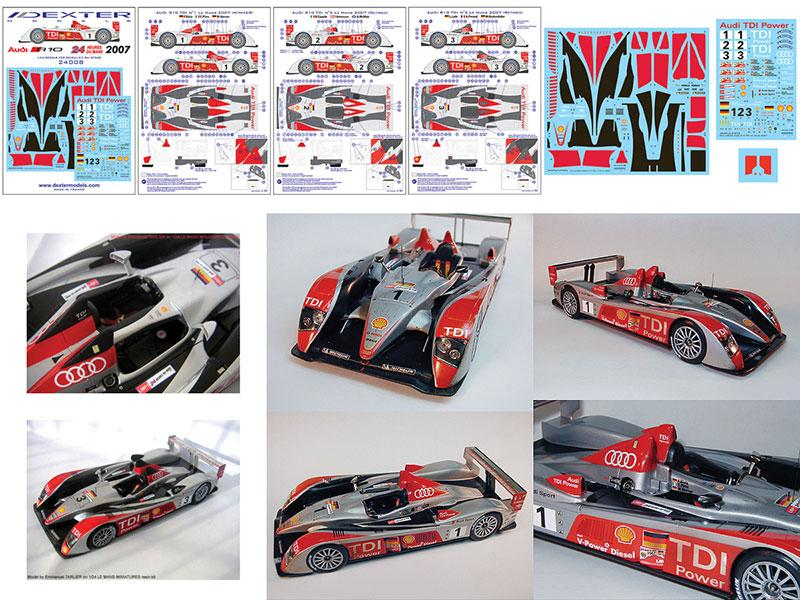 Audi R TDI Le Mans Decals DCL Dexter Models - Audi r10