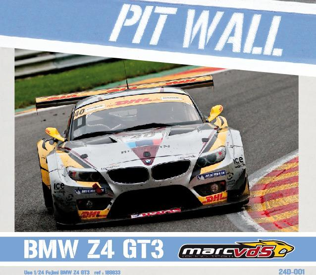 Bmw Z4 Gt3 Price: BMW Z4 GT3 Marc VDS 24Hours Of Spa 2011 Decals (Fujimi