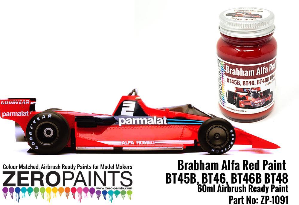 Brabham Alfa Red Paint - BT45B, BT46, BT46B BT48 etc 60ml