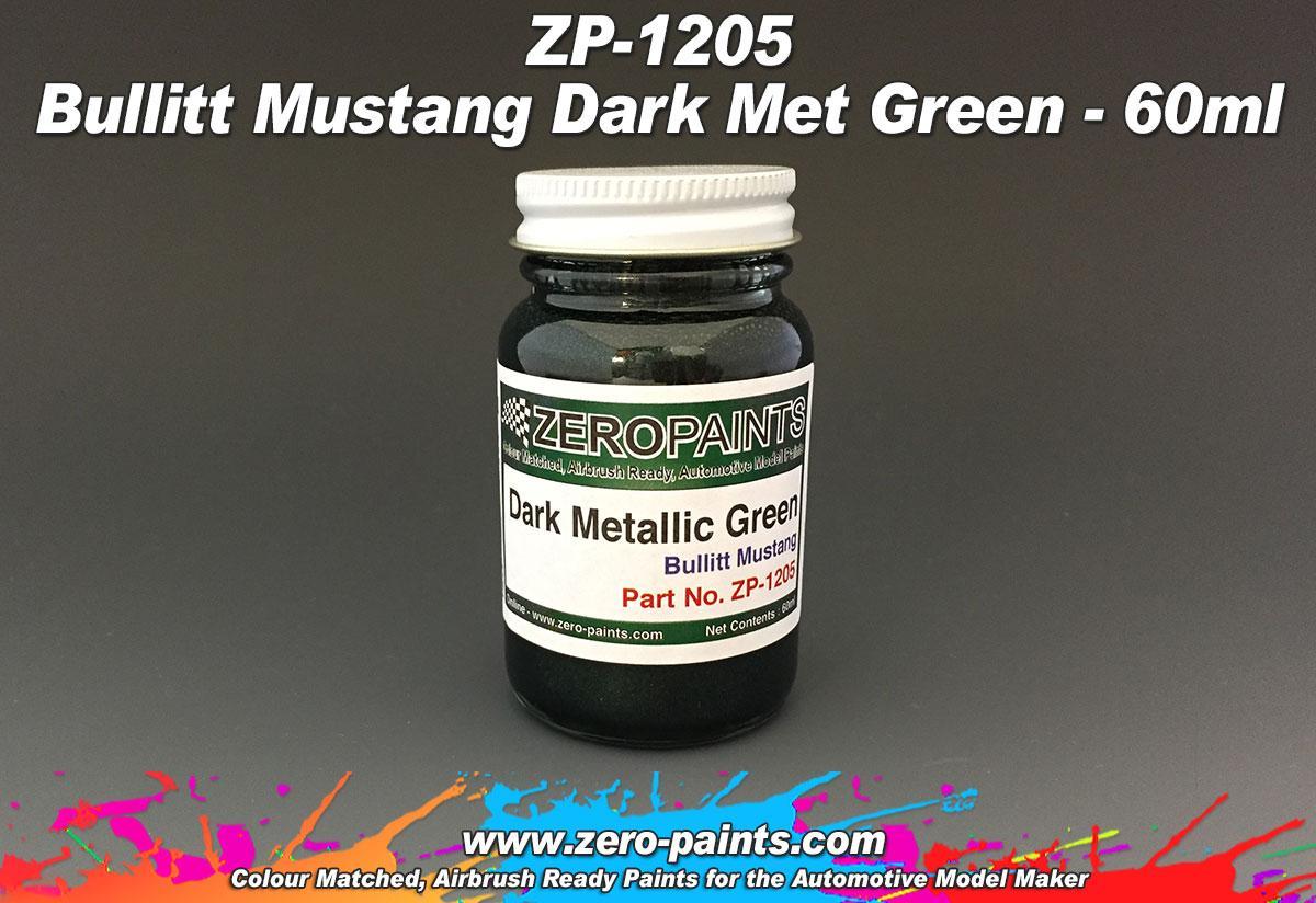 bullit mustang dark metallic green paint 60ml zp 1205 zero paints
