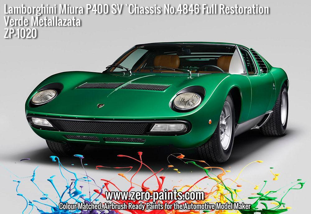 Lamborghini Miura P400 Sv Full Restoration Verde Metallazata Green