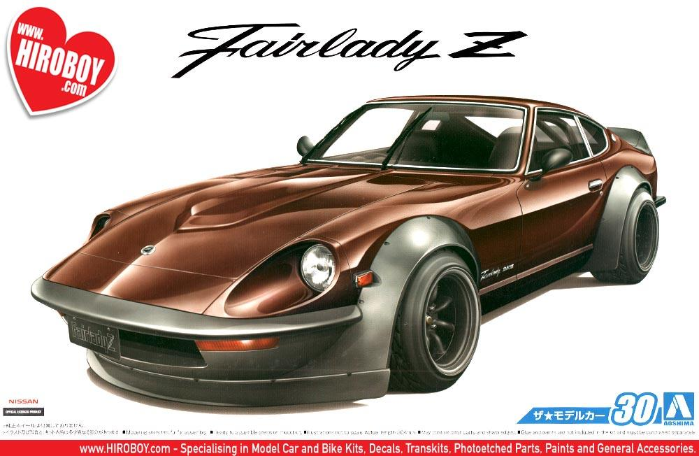 124 datsun 240z fairlady z s30 full aero custom model kit