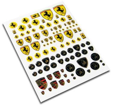 European Car Emblem Stickers 1 12 1 18 1 24 1 43 Porsche