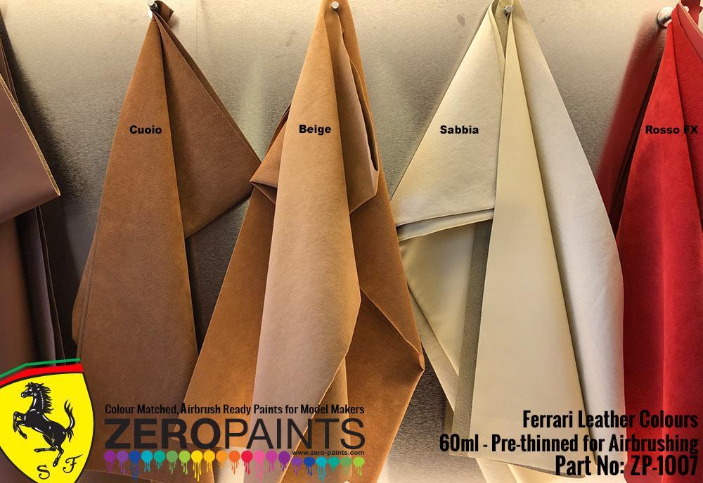 Ferrari Sabbia Creme Leather Colour Paint 60ml Zp 1007 Zero Paints
