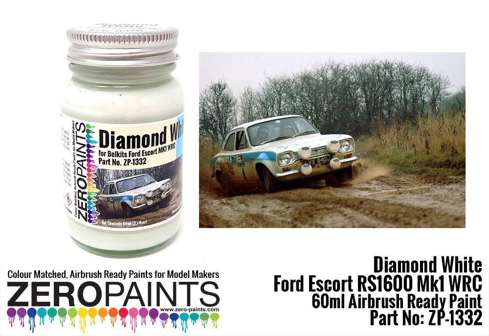 Ford Escort RS1600 Mk1 WRC Diamond White Paint 60ml (Belkits)