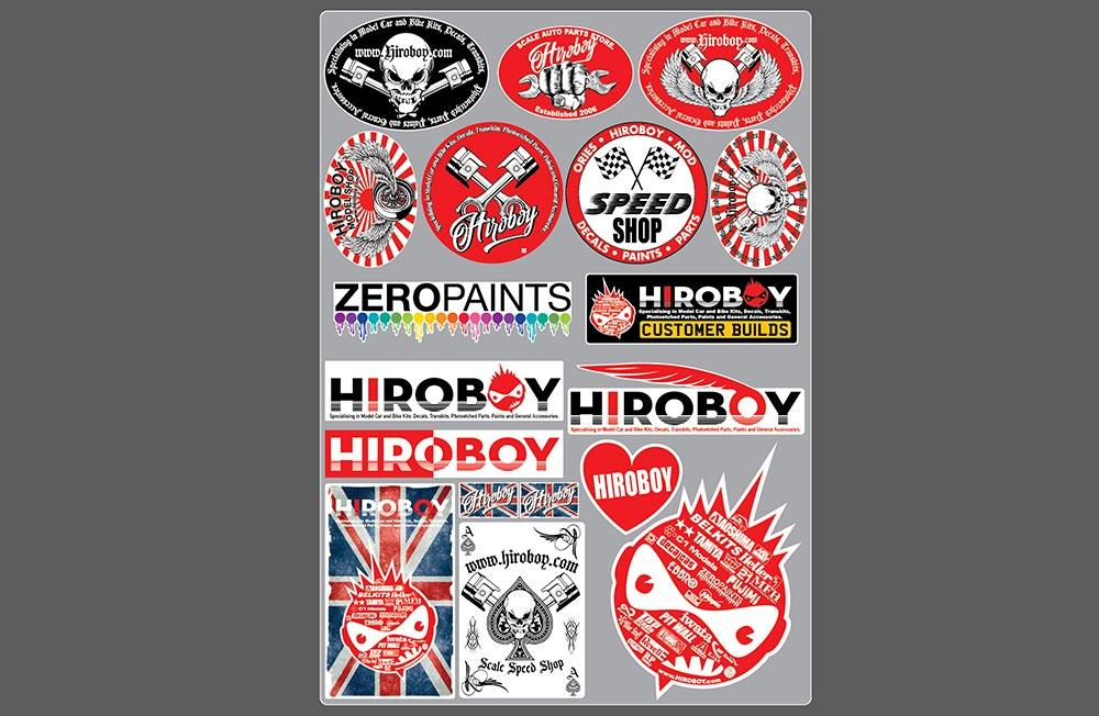 A4 sheet of hiroboy stickers