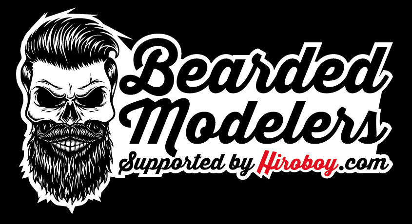 Bearded modelers hiroboy com sticker 150mm