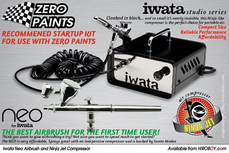 Iwata Airbrush Kit >> Iwata Neo Cn Airbrush Ninja Jet Compressor Starter Kit