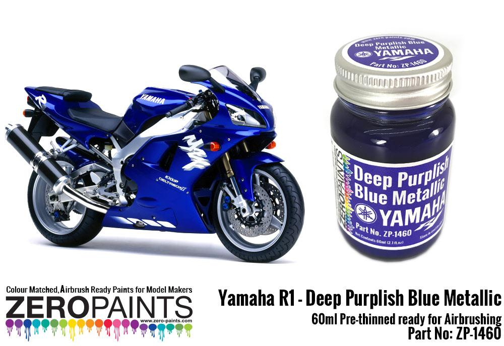 Yamaha R1 R6 Deep Purplish Blue Metallic Paint 60ml