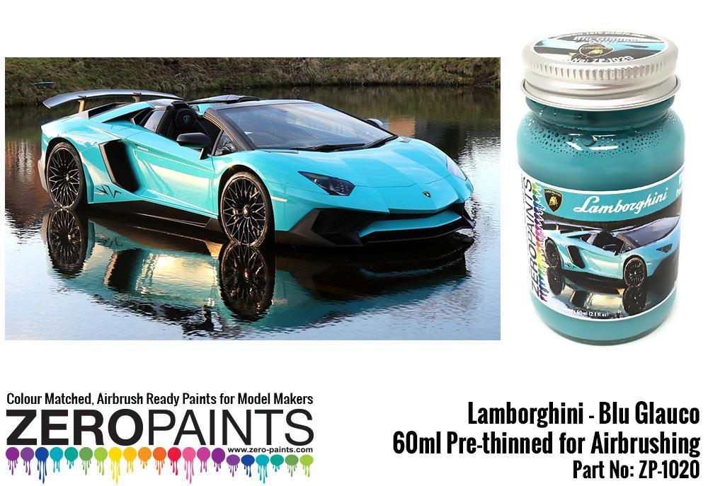 Lamborghini Blu Glauco Paint 60ml Zp 1020 Zero Paints