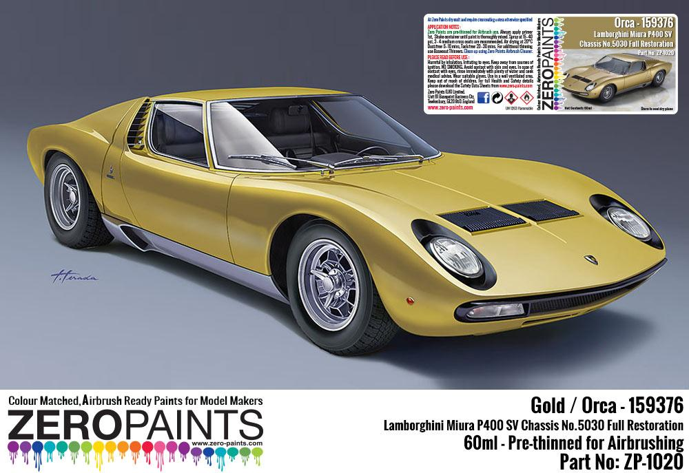 Lamborghini Miura P400 Sv Full Restoration Orca Gold Paint 60ml
