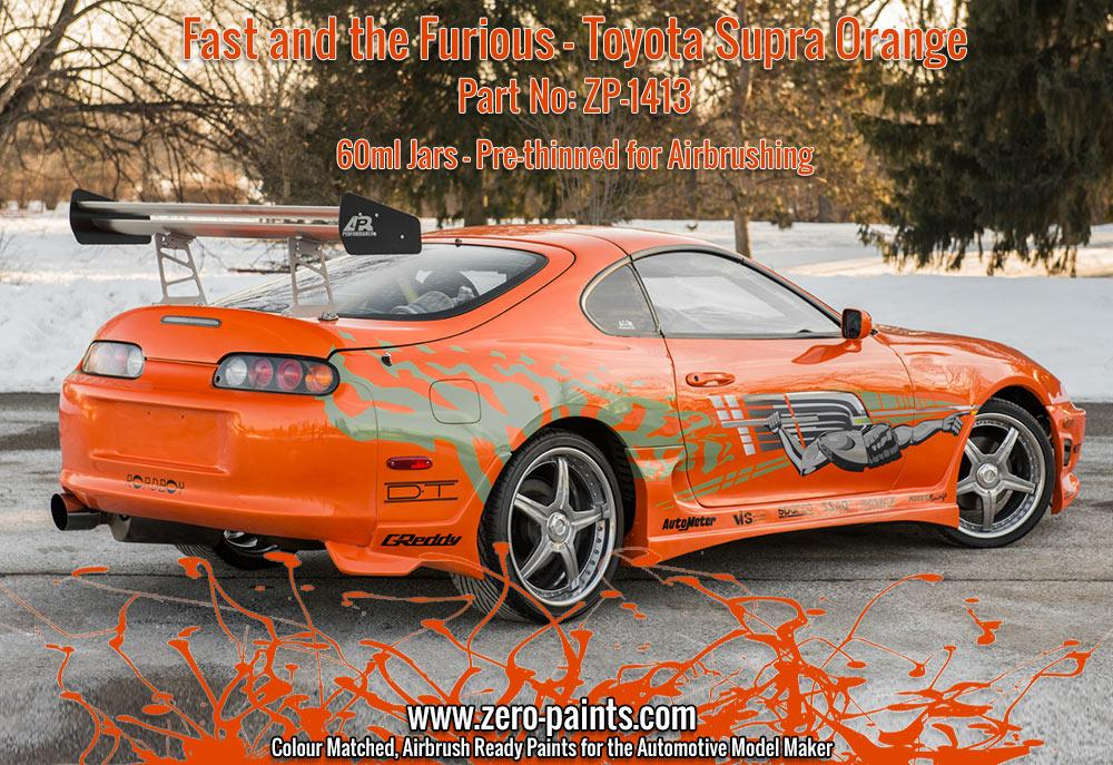 Fast and the Furious Toyota Supra Orange Pearl Paint 60ml | ZP-1413 ...