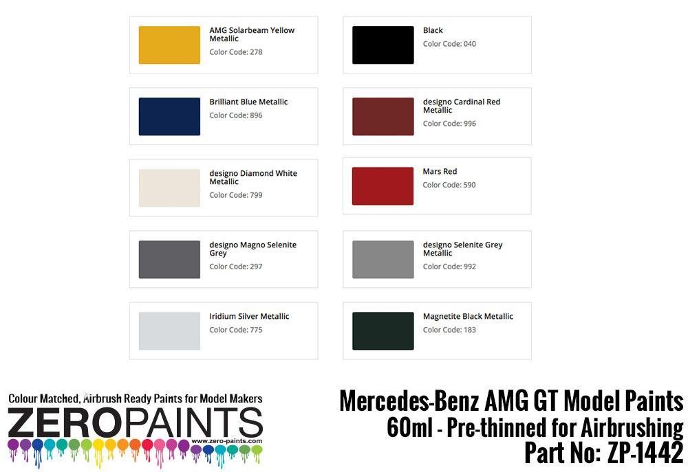 Mercedes-AMG GT Paints 60ml | ZP-1442 | Zero Paints