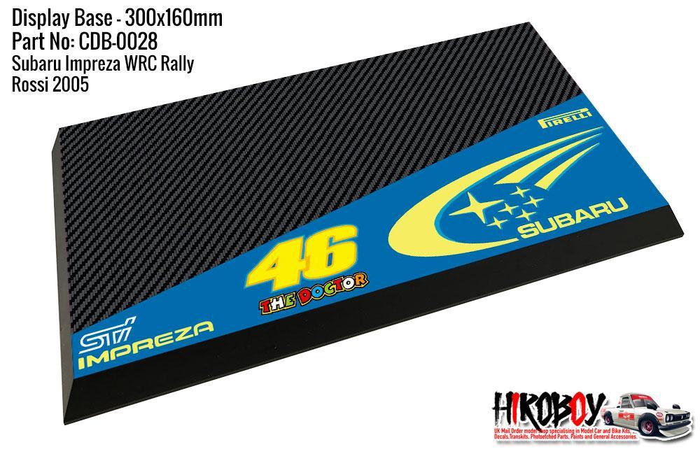 Subaru Impreza Wrc Valentino Rossi 46 Display Base For Model Kits