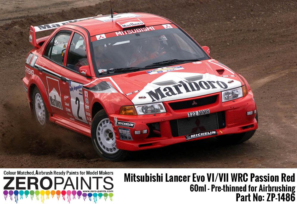 Mitsubishi Lancer Evo VI / VIII WRC Passion Red Paint 60ml | ZP-1486 ...