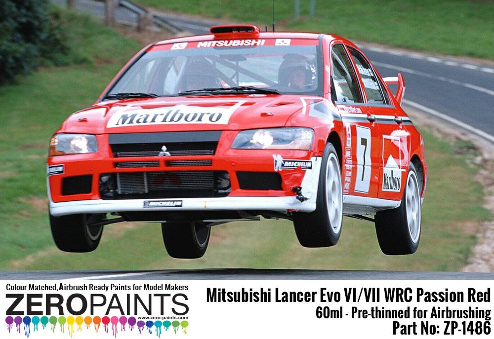 Mitsubishi Lancer Evo VI / VIII WRC Passion Red Paint 60ml | ZP ...