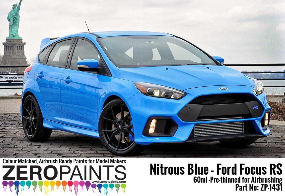 nitrous blue ford focus rs paint 60ml zp 1431 zero paints. Black Bedroom Furniture Sets. Home Design Ideas