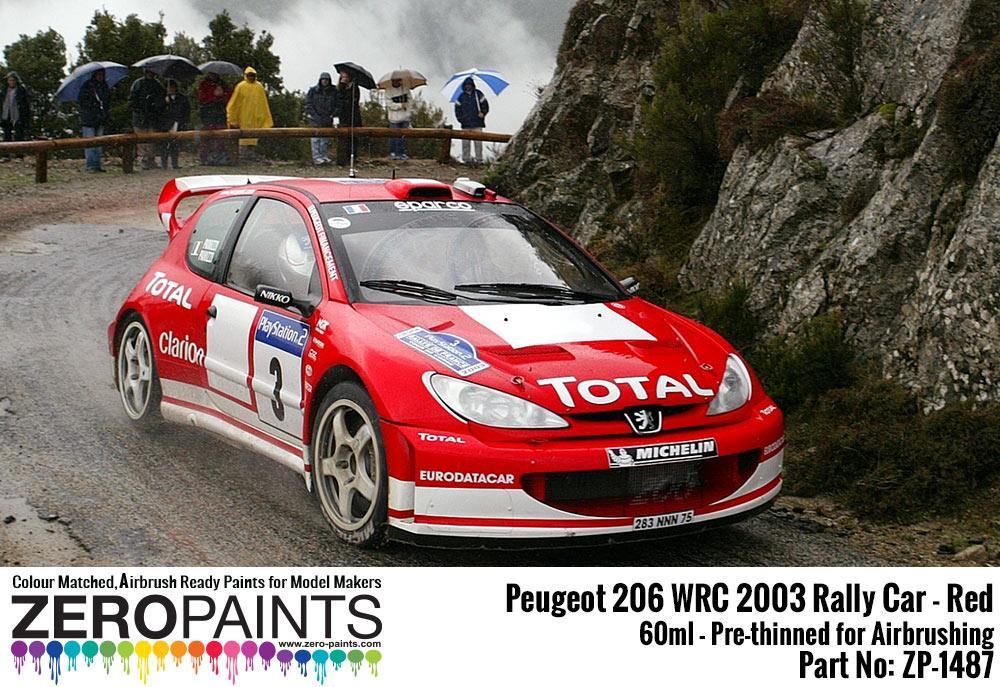 Peugeot 206 WRC 2003 Rally Red Paint 60ml | ZP-1487 | Zero Paints
