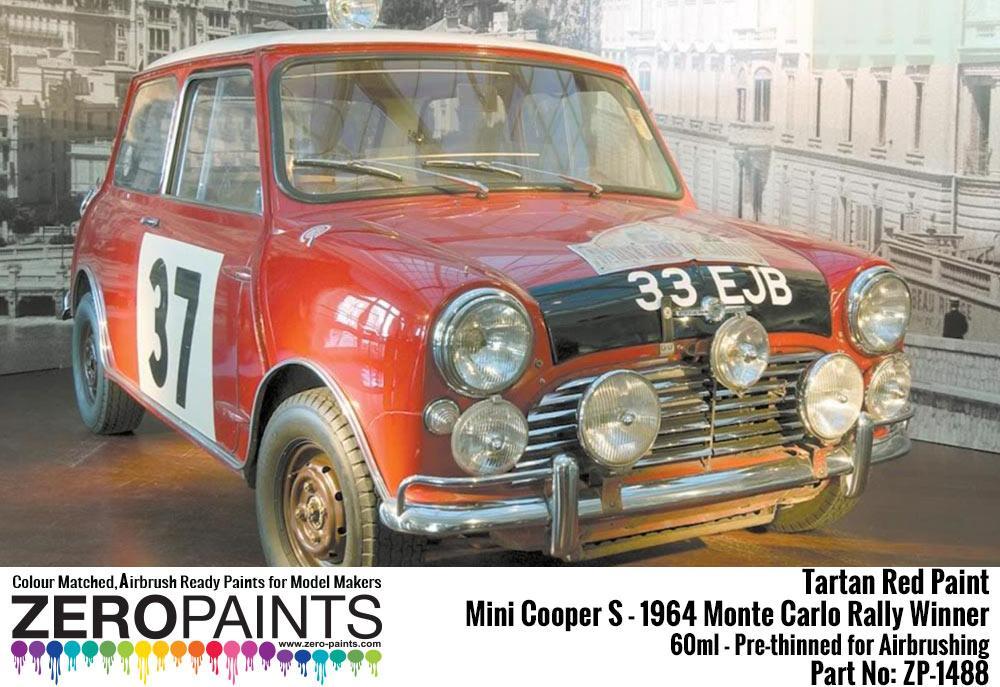 Mini Cooper S - 1964 Monte Carlo Rally Winner Tartan Red Paint 60ml