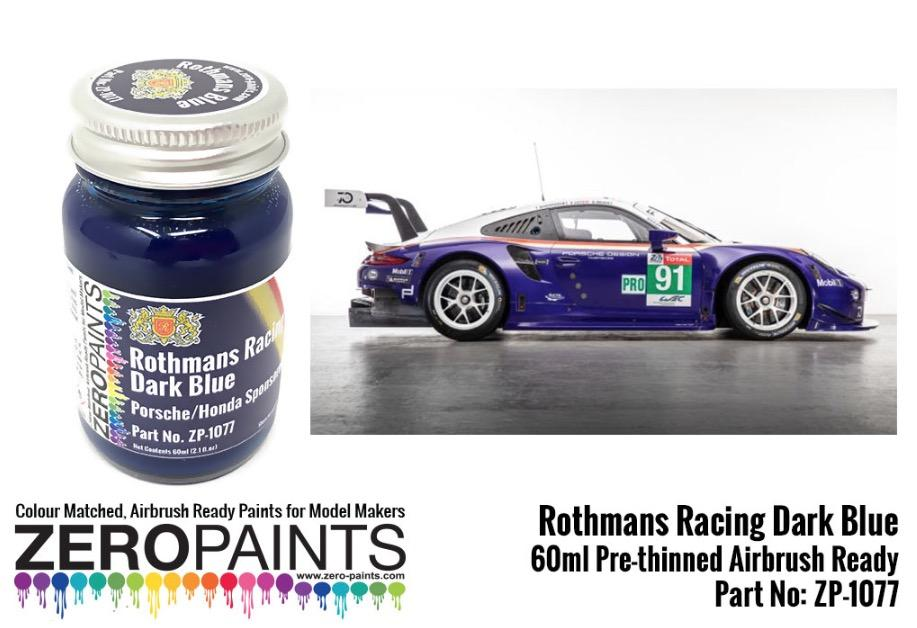 Rothmans Racing Dark Blue Porschehonda 60ml Zp 1077 Zero Paints