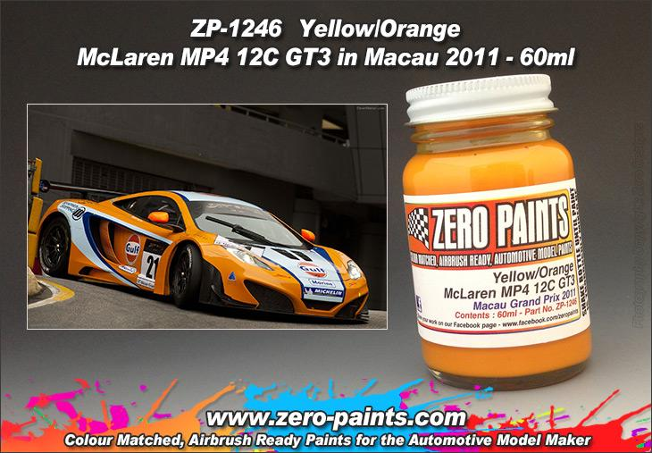 Yellow/Orange Paint McLaren MP4 12C GT3 In Macau 2011 (for Fujimi) 60ml