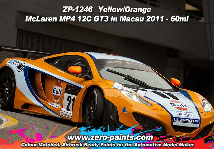 ... Yellow/Orange Paint McLaren MP4 12C GT3 In Macau 2011 (for Fujimi)