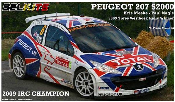 1:24 Peugeot 207 S2000 (Kris Meeke Rally Car) | BEL001 | BelKits
