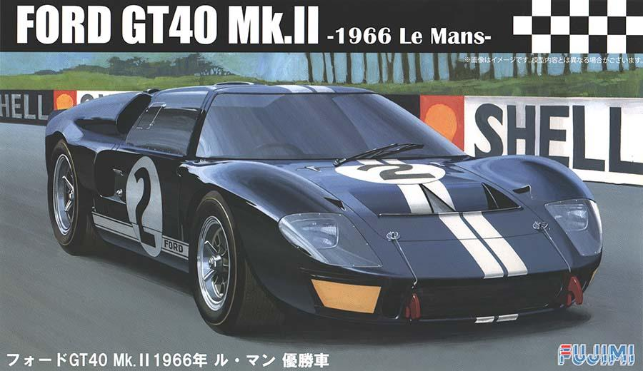 1 24 ford gt40 mk ii 1966 le mans 3 mclaren amon chassis 1046 fuj 126036 fujimi. Black Bedroom Furniture Sets. Home Design Ideas