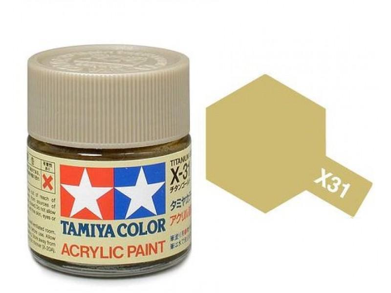 Tamiya Acrylic Mini X-31 Titan  Gold (Gloss) - 10ml Jar
