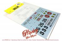 1:20 Tyrrell 004 Lucky Strike South Africa 1973  Decals (Ebbro)