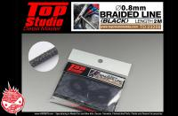 0.8mm Braided Line (Black)