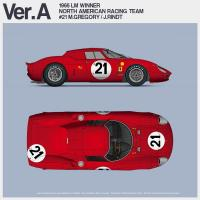 1:12 Ferrari 250LM Ver.A : 1965 LM 24 Hours Race Winner [ North American Racing Team ] #21 M.Gregory / J.Rindt