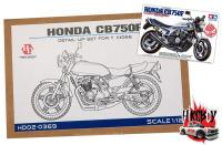 1:12 Honda CB750F - Detail up set for Tamiya 14066 (PE+Metal parts+Resin+Metal Logo)