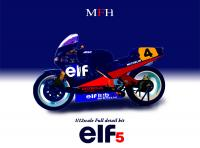 1:12 Honda Elf 5  #4 Ron Haslam Full Detail Multi-Media Model Kit
