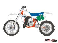 1:12 KTM 250MX Motorcycle Decals for Tamiya 14046/14051