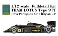 1:12 Lotus 97T Portugal GP Full Detail Multi-Media Model Kit