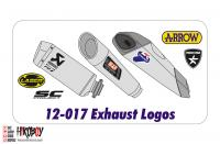 1:12 Motorcycle Exhaust Decals
