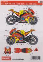 1:12 Yamaha YZR-M1 Team Tech 3 #24 Toni Elias Decals