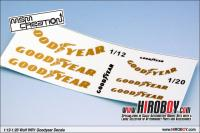 1:12 / 1:20 Goodyear Decal for Tamiya Wolf WR1