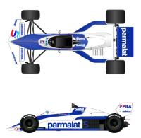 1:20 Brabham BT52 Brazil GP & Long Beach GP  Full detail Multi-Media Model Kit