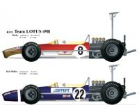 1:20 Lotus 49B '68 Works High Wing & Rob Walker   Full detail Multi-Media Model Kit