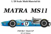 1:20 Matra MS11 ver. B '68 Dutch GP  Full detail Multi-Media Model Kit