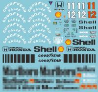 1:20 Mclaren MP4/4 Full Sponsor Decal (Marlboro) for Tamiya
