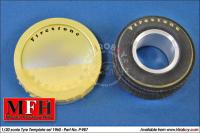 1:20 Tyre Painting Template for 1960 Goodyear/Firestone - P987