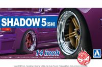 "1:24 14"" Shadow Spoke 5 (5H) Wheels and Tyres"