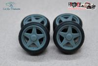 "1:24 15"" Wheels AZEV A with Stance Tyres"