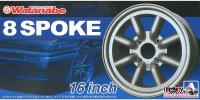 "1:24 16"" RS Watanabe 8 Spoke Wheels and Tyres"