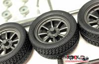 "1:24 17"" RS Watanabe Wheels and Tyres"
