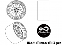 "1:24 19"" Work Miester M1 3 piece - Wheels and Tyres"