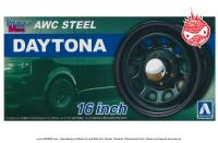 "1:24 AWC Steel Daytona 16"" Wheels and Tyres"